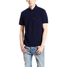 Buy Levi's Dot Print Polo Top, Indigo Online at johnlewis.com