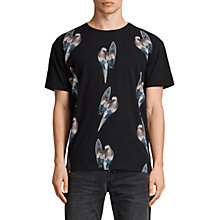 Buy AllSaints Surfin Bird Crew T-Shirt, Black Online at johnlewis.com