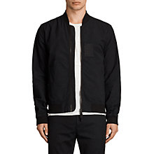 Buy AllSaints Cray Bomber Jacket, Black Online at johnlewis.com
