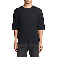 Buy AllSaints Jace Short Sleeve Crew Jumper, Ink Navy Online at johnlewis.com
