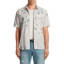 Buy AllSaints Layback Slim Fit Short Sleeve Shirt Online at johnlewis.com