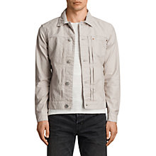 Buy AllSaints Singel Denim Jacket, Khaki Online at johnlewis.com