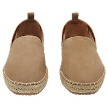 Buy Reiss Edward Suede Espadrilles, Tan Online at johnlewis.com