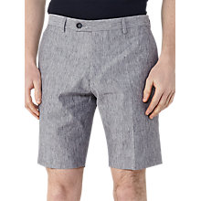 Buy Reiss Galoway Linen Cotton Shorts, Blue Online at johnlewis.com