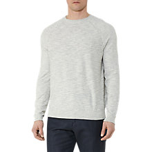 Buy Reiss Martial Contrast Weave Jumper, Grey Online at johnlewis.com