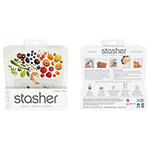 Buy Stasher Silicone Multi-Purpose Kitchen Storage Bag, Clear Online at johnlewis.com