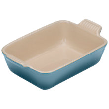 Buy NEW Le Creuset Stoneware Deep Rectangular Oven Dish, Marine Online at johnlewis.com