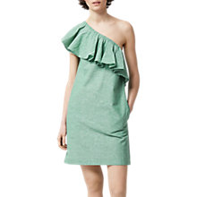 Buy Warehouse Ruffle One Shoulder Dress Online at johnlewis.com