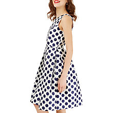 Buy Closet Princess Polka Dot Seam Dress, White/Navy Online at johnlewis.com