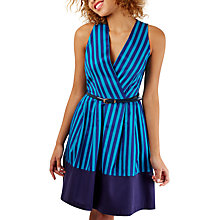 Buy Closet Wrap Over Pleated Dress, Blue Online at johnlewis.com