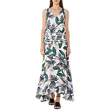 Buy Reiss Silk Palm Print Maxi Dress, Multi Online at johnlewis.com