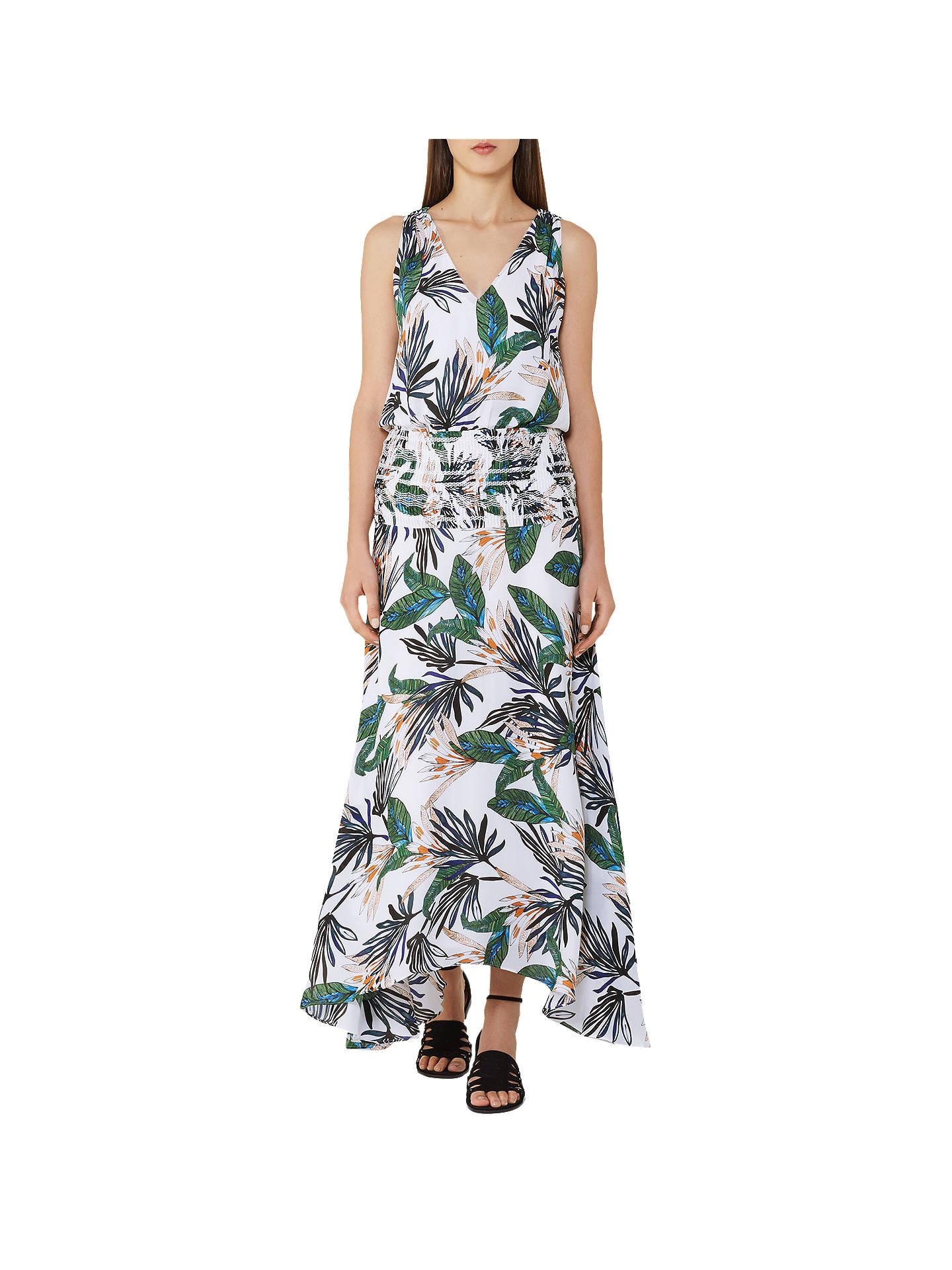 9be23067f84 Buy Reiss Silk Palm Print Maxi Dress