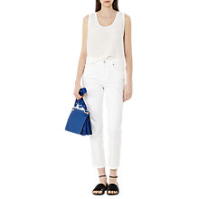 Buy Reiss Silk Front Tank Top, White Online at johnlewis.com