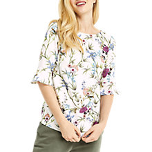 Buy Oasis Oriental Flute Sleeve Top, Multi Online at johnlewis.com