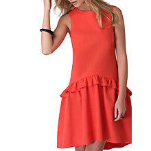 Buy Closet Drop Waist Frilled Dress, Orange Online at johnlewis.com