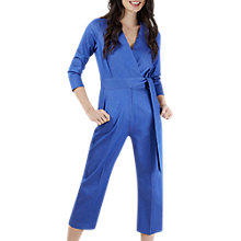 Buy Closet Wrap Tie Jumpsuit, Blue Online at johnlewis.com