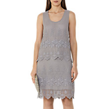 Buy Reiss Embroidered Lace Dress, Dove Grey Online at johnlewis.com