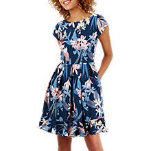 Buy Closet Floral Pleated Skirt Dress, Navy/Multi Online at johnlewis.com
