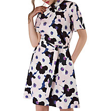 Buy Closet Gathered Top A-Line Daisy Print Dress, Multi Online at johnlewis.com