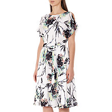 Buy Reiss Naomi Print Cold Shoulder Dress, Multi Online at johnlewis.com