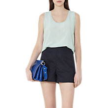 Buy Reiss Sandy Silk Front Tank Top, Peppermint Online at johnlewis.com