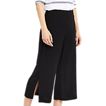 Buy Oasis Split Hem Crop Trousers, Black Online at johnlewis.com