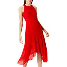 Buy Coast Ruby Pleated Midi Dress, Red Online at johnlewis.com