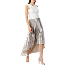 Buy Coast Paige Pleat Maxi Skirt, Silver Online at johnlewis.com