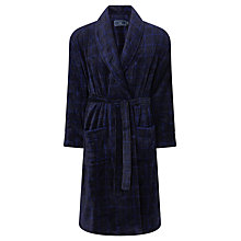 Buy John Lewis Check Fleece Robe Online at johnlewis.com