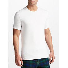 Buy Calvin Klein ID Stretch Cotton T-Shirt, Pack of 2, White Online at johnlewis.com