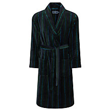 Buy John Lewis Stripe Fleece Robe, Blue/Green Online at johnlewis.com