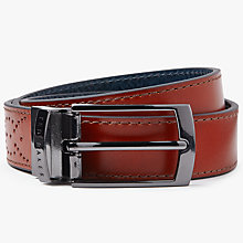 Buy Ted Baker Boxwood Brogue Leather Belt Online at johnlewis.com