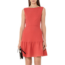 Buy Reiss Marisa Pin Tuck Dress, Lotus Red Online at johnlewis.com