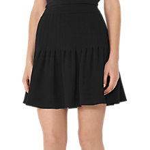 Buy Reiss Lexi Pin Tuck Skirt, Black Online at johnlewis.com