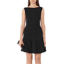 Buy Reiss Marisa Pin Tuck Dress, Black Online at johnlewis.com