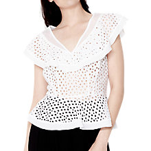 Buy Ghost Cecile Top, White Online at johnlewis.com