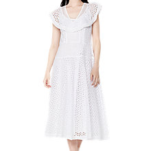 Buy Ghost Betsy Dress, White Online at johnlewis.com