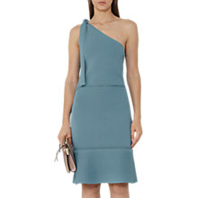 Buy Reiss One Shoulder Knit Dress, Blue Online at johnlewis.com