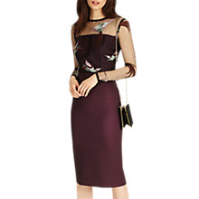 Buy Phase Eight Marly Embroidered Dress, Fig Online at johnlewis.com