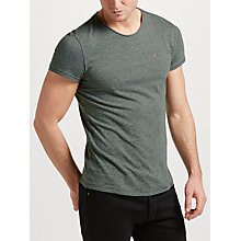 Buy Tommy Jeans Basic Knit T-Shirt, Khaki Online at johnlewis.com