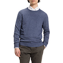 Buy Tommy Hilfiger Elevated Mouline Jumper, Navy Heather Online at johnlewis.com