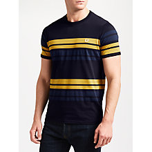 Buy Fred Perry Multi Stripe T-Shirt, Navy Online at johnlewis.com