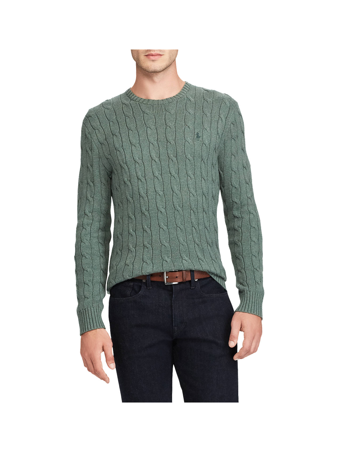 403ef65373 Polo Ralph Lauren Crew Neck Cable Knit Jumper at John Lewis   Partners