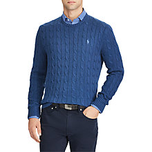Buy Polo Ralph Lauren Crew Neck Cable Knit Jumper Online at johnlewis.com