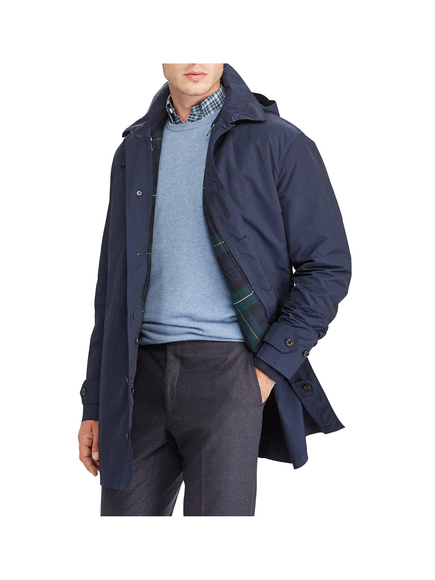 37ae14e06 Polo Ralph Lauren 3-in-1 Down Fill Coat, Village Navy at John Lewis ...