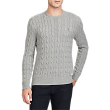 Buy Polo Ralph Lauren Crew Neck Cable Sweatshirt Online at johnlewis.com