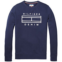Buy Tommy Jeans Long Sleeve Jersey Top, Navy Online at johnlewis.com