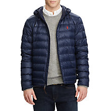 Buy Polo Ralph Lauren Lightweight Down Fill Jacket, Aviator Navy Online at johnlewis.com
