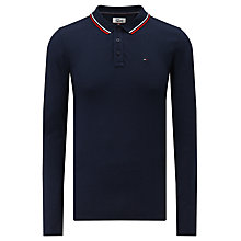 Buy Tommy Jeans Basic Long Sleeve T-Shirt, Navy Online at johnlewis.com