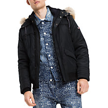 Buy Hilfiger Denim Tech Bomber Jacket, Multi/Charcoal Online at johnlewis.com